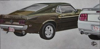 John Chicoine Artwork 69 and 09, 2013 Oil Painting, Automotive