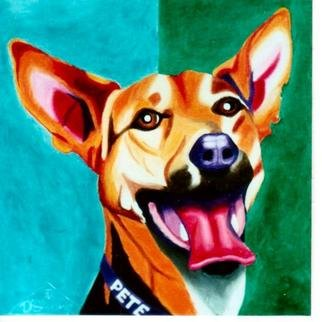 Joanne Deshong: 'Pete', 2004 Oil Painting, Dogs. Pete' s owner calls him a