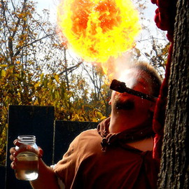 Jeanette Locher Artwork Fire eater, 2013 Color Photograph, People