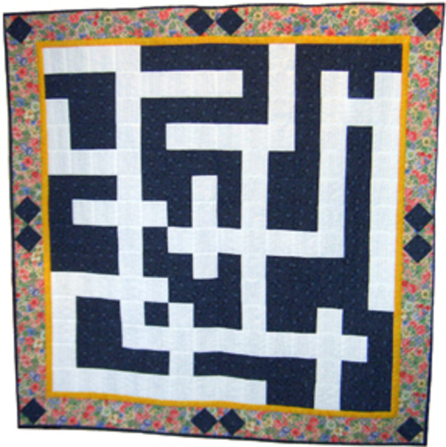 Jean Judd  'Floral Crossword Puzzle', created in 2005, Original Textile.