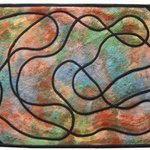 Scribble 2 Black Pathways By Jean Judd