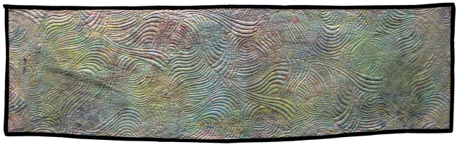 Jean Judd  'Sound Waves 3 Ionosphere', created in 2016, Original Textile.