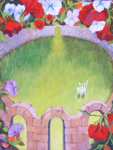 Artist Jean Meyer. 'Garden Of Solitude' Artwork Image, Created in 2011, Original Painting Acrylic. #art #artist