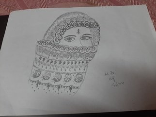 Jeevitha Nagaraj: 'beautiful woman in mandala art', 2020 Pencil Drawing, Mandala. Mandala art speaks well about our emotions. In this art, the look and eyes of a woman is portrayed. ...