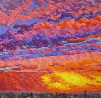 Jeffrey Ferst: 'Gates Pass', 2016 Oil Painting, Abstract Landscape. Artist Description:  My paintings are flamboyantjuicy. They are inspired by the sonoran desert I call home. Thick oil paintings full of color and vibrancy. Many layers make wonderful texture and great contemporary art compositions. I paint landscape and abstractions....