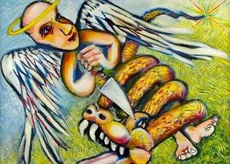 Artist: Jeff Turner - Title: Angel Gabriel - Medium: Oil Painting - Year: 2013