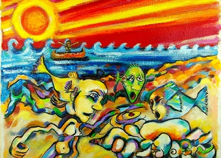 Artist: Jeff Turner - Title: Fishing Hole - Medium: Oil Painting - Year: 2009