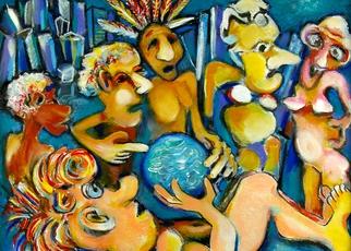 Artist: Jeff Turner - Title: My Little Blue Ball - Medium: Oil Painting - Year: 2013