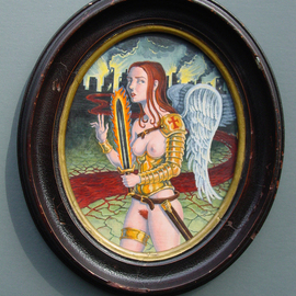 Jeffrey Dickinson Artwork Crusader, 2008 Oil Painting, Surrealism