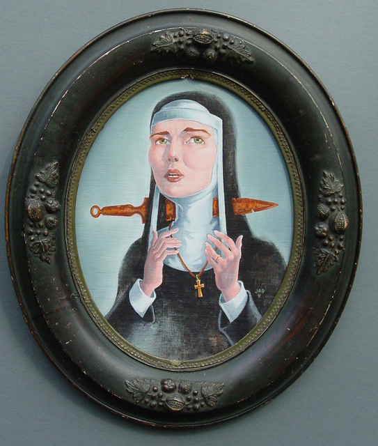 Jeffrey Dickinson  'Ghost Nun Of Prague', created in 2009, Original Painting Acrylic.