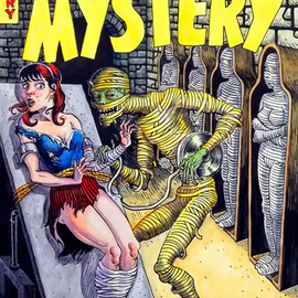 Jeffrey Dickinson Artwork Mister Mystery, 2011 Watercolor, Comics