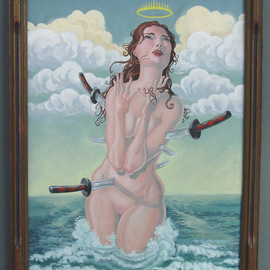 Jeffrey Dickinson Artwork Santa Monica, 2008 Oil Painting, Surrealism