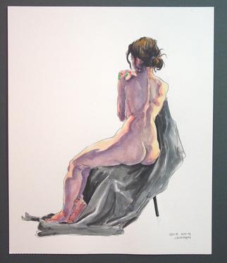 Jeffrey Dickinson Artwork katienov09, 2009 Watercolor, Nudes