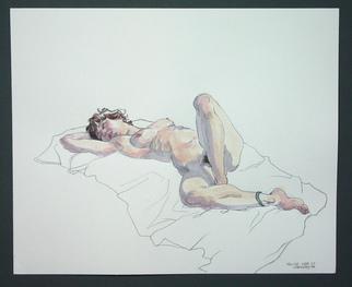 Jeffrey Dickinson Artwork nicolemar10a, 2010 Watercolor, Nudes