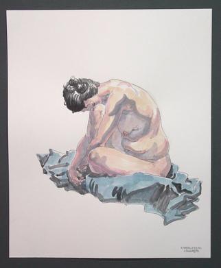 Jeffrey Dickinson Artwork rowenfeb10, 2010 Watercolor, Nudes