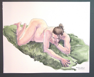 Jeffrey Dickinson Artwork rowenjune09a, 2009 Watercolor, Nudes