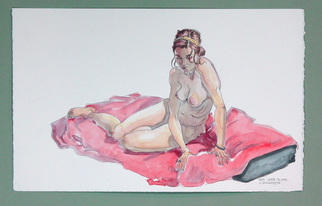 Jeffrey Dickinson Artwork samjune2010, 2010 Watercolor, Nudes
