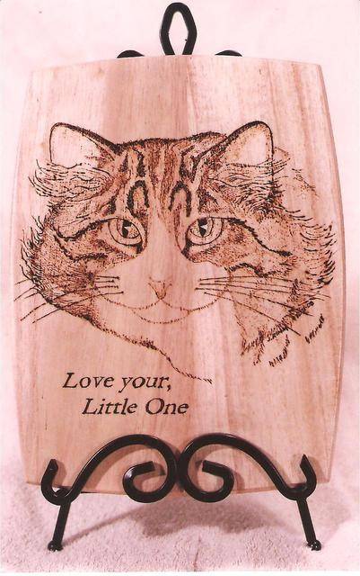 Jeff Rimm  'Custom Woodburning', created in 2009, Original Woodworking.