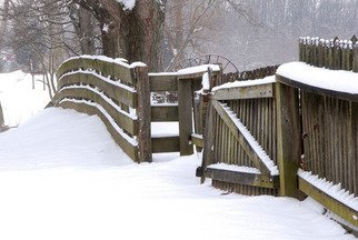 Jeff Smith: 'Fence Row Snowy Day', 2010 Color Photograph, Nature. Artist Description:  Fence Row at Carriage Hill Metro Park.    ...
