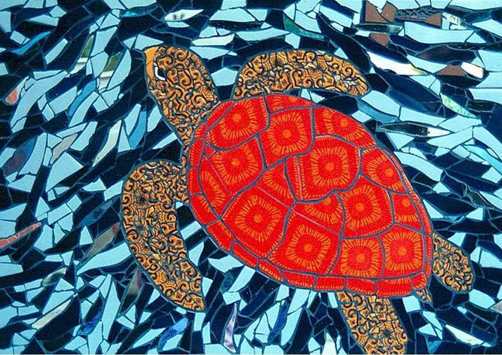 Sudarshan Deshmukh Artwork Sea Turtle Original Mosaic