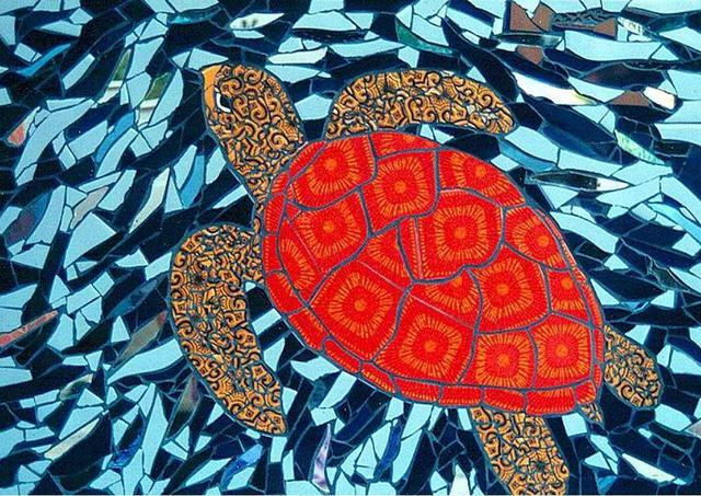 Sudarshan Deshmukh  'Sea Turtle', created in 2002, Original Mosaic.