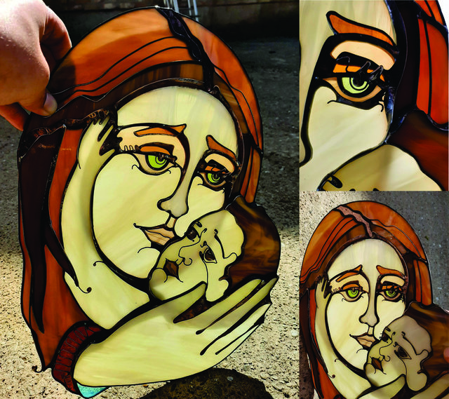 Jelena Taras  'Holy Mother', created in 2020, Original Glass Stained.