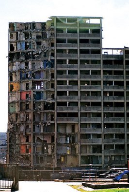 Jennifer Anne Buckley: 'Destruction ', 2006 Other Photography, Poverty.  This is a picture of the demolition of the infamous Chicago Cabrini Green Projects. ...