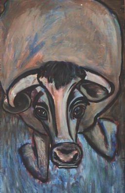 Jennifer Bailey: 'cow', 2002 Acrylic Painting, Wildlife. The viewer' s description is better than mine on this particular piece.  ...