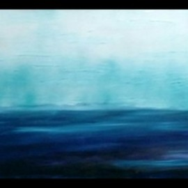 Jennifer Bailey: 'dawn', 2019 Acrylic Painting, Abstract. Artist Description: Swimming in the ocean is and always will be my total calm and peace. I wanted to capture that peace and gift it to viewers. I m not sure I want to sell this because of the emotions it evokes. ...