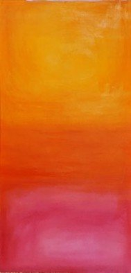 Jennifer Bailey: 'warmth', 2020 Oil Painting, Abstract. Seeing every sunset from my home inspired this piece. The changing of seasons brings an abundance of differing sky colors. I wanted to exude a feeling of end of summer warmth and joy. ...