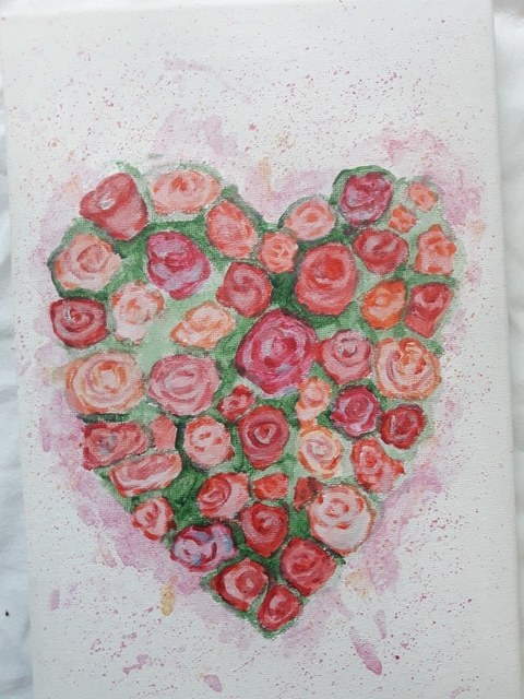 Jenet Petkova  'Romantic Rosses', created in 2018, Original other.
