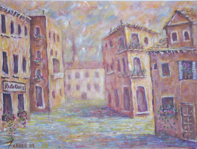 Jerry Farber  'Storybook Venice', created in 2010, Original Painting Acrylic.