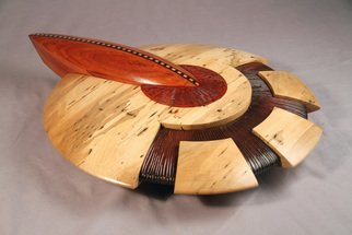 Jerry Cox: 'the dial', 2012 Wood Sculpture, Space. Artist Description: sci fi science spaceship retro turned carved exotic...