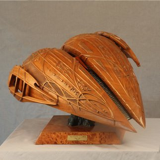 Jerry Cox: 'the human condition', 2007 Wood Sculpture, Religious. Artist Description: Turned and carved mahogany, ebony, basswood and redwood burl. ...