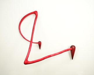 Jerry Monteith: 'Double Red Bubble Up', 2011 Wood Sculpture, Abstract.