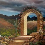 Arched Walkway By Jerry Sauls