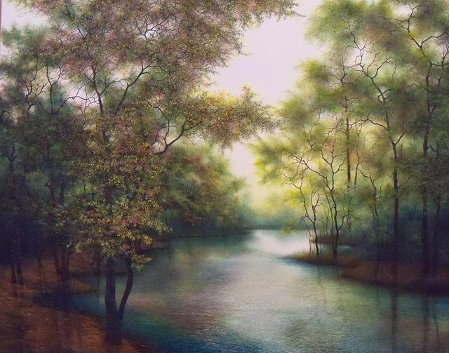 Jerry Sauls  'Colors Of Spring', created in 2012, Original Painting Oil.