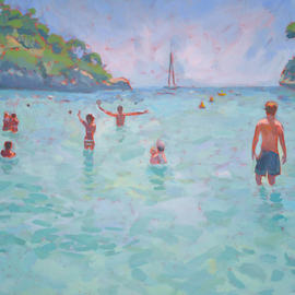 Jessica Dunn: 'Baia', 2010 Oil Painting, Figurative. Artist Description:  oil painting, marine, bay in Majorca, seaside. ...