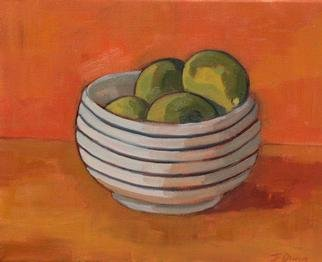 Jessica Dunn  'Bowl Of Limes', created in 2001, Original Ceramics Other.