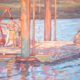 Boys on a Jetty  By Jessica Dunn