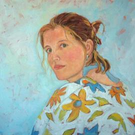 Jessica Dunn: 'Corine', 2004 Oil Painting, Portrait. Artist Description: commission...