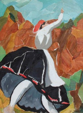 Collage by Jessica Dunn titled: Dancer, created in 1998