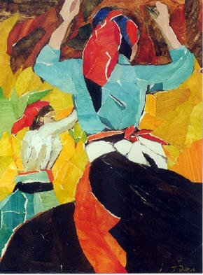 Collage by Jessica Dunn titled: Dancers, 1998