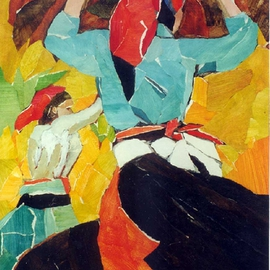 Jessica Dunn Artwork Dancers, 1998 Collage, Dance