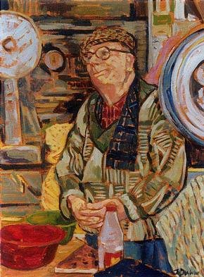 Artist Jessica Dunn. 'Fishmonger' Artwork Image, Created in 1999, Original Ceramics Other. #art #artist