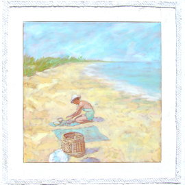 Girl on a Beach  By Jessica Dunn