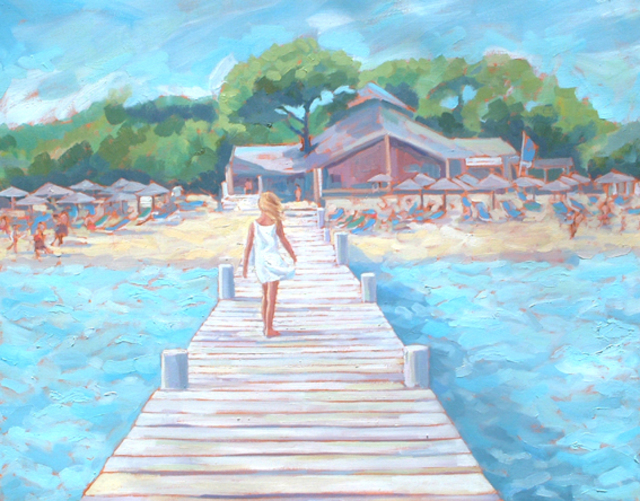 Artist Jessica Dunn. 'Girl On A Jetty' Artwork Image, Created in 2007, Original Ceramics Other. #art #artist