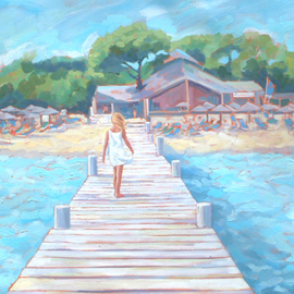 Girl on a Jetty By Jessica Dunn