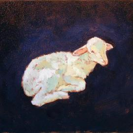 Jessica Dunn Artwork Lambkin, 2004 Oil Painting, Animals