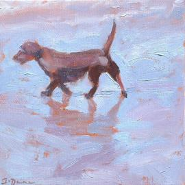Jessica Dunn: 'Pooch', 2006 Oil Painting, Dogs.
